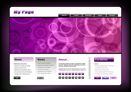 webpages: web template in the purple