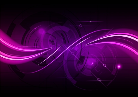 purple abstract background with wave Stock Vector - 11028945