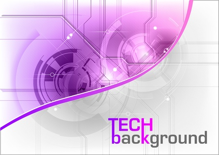 tech background in the purple color
