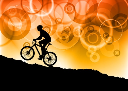 bike on the abstract background Vector