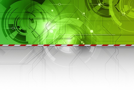tech background in the green color Stock Vector - 11028956