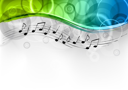 tunes: green and blue melody background