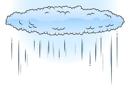 blue cloud with the rain