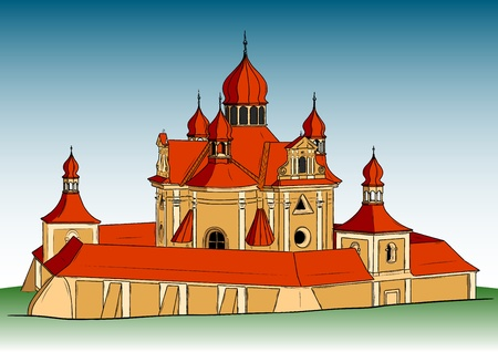 draw of the big church Vector