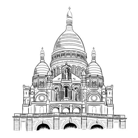 coeur: sacre coeur isolated on the white