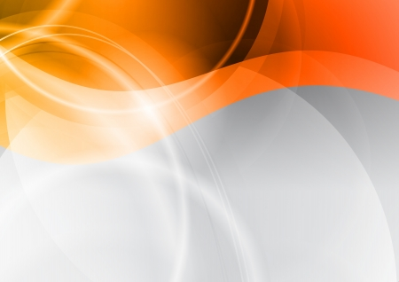 orange wave on the abstract background Vector
