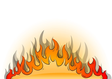 Flames on the white background Vector
