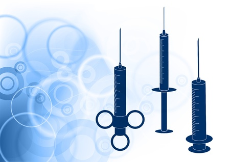 injections on the blue background Vector