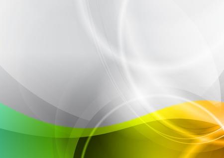 green and orange wavy background Stock Vector - 11660073