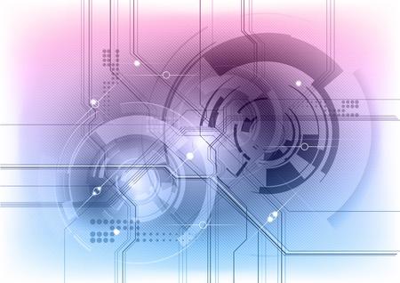 blu e viola sfondo tecnologia Vettoriali