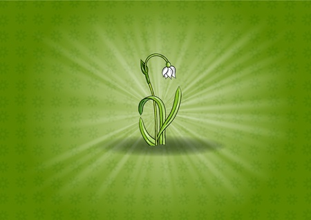 flower on the shining background Vector