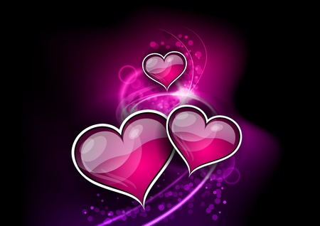 hearts on the abstract background Vector