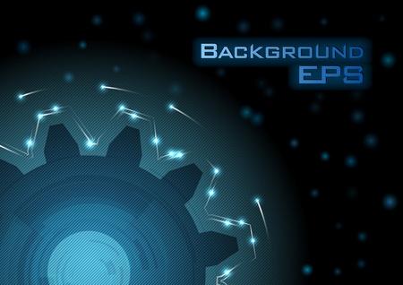 blue cogwheel in the dark Stock Vector - 12080832