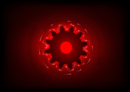 cogwheel on the red background Vector