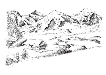 berg die op de witte