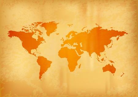 carte du monde sur le vieux papier