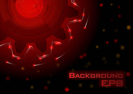 big cogwheel on the dark background Vector
