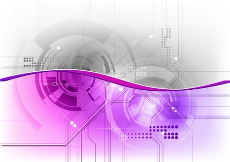 tech background in the purple color Vector