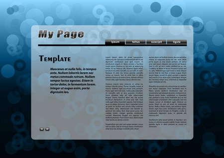blue webpage on the dark Illustration