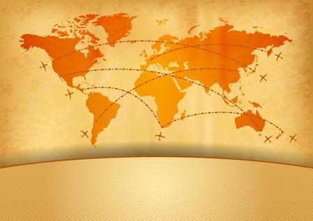 carte du monde avec le plan