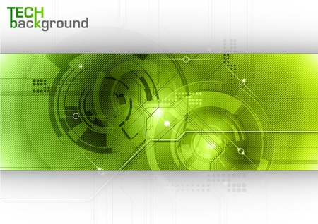 tech background with green center Stock Vector - 12797280