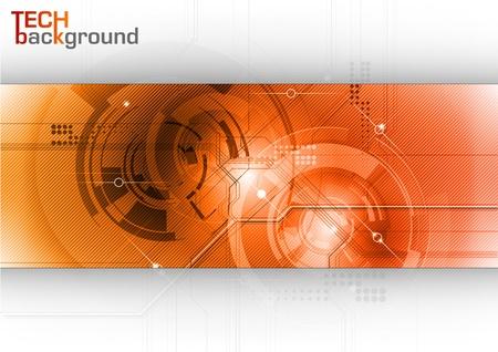 fondo de alta tecnología en los clolors rojos Ilustración de vector