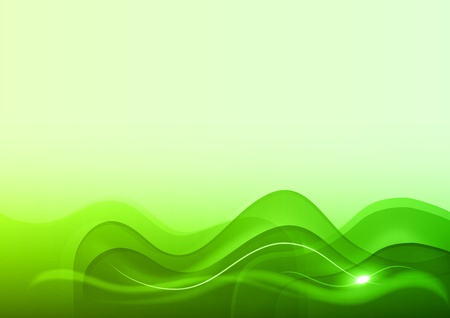 green background in the light wave Vector