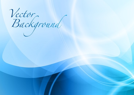 blue abstract background with the wave Stock Vector - 13126206