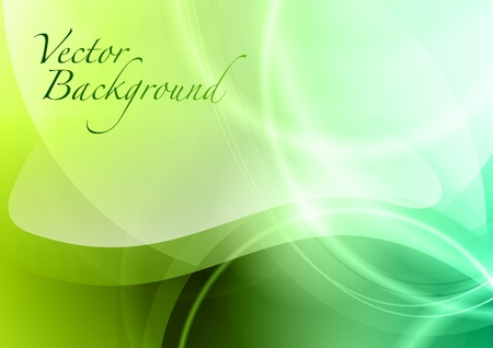 green background with the wave Stock Vector - 13189567