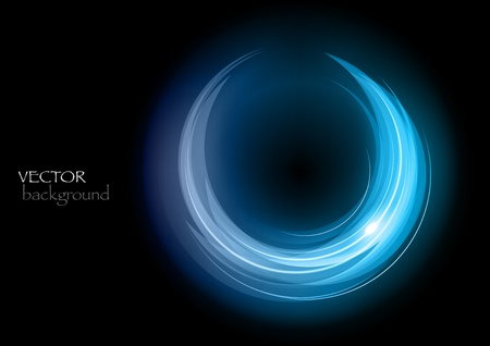 blue rounded shape on the black Stock Vector - 13189576