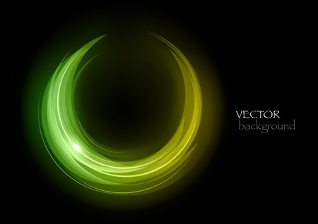 fresh green symbol on the dark background Stock Vector - 13189571