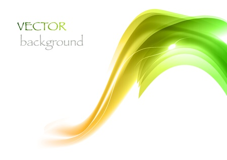 dynamic motion: green elements on the white background