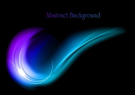fumo blu: fumo blu su sfondo nero