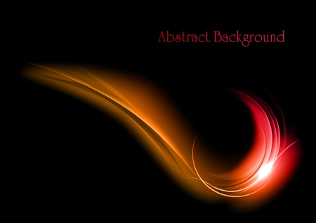 red abstract on the dark background Stock Vector - 13297132