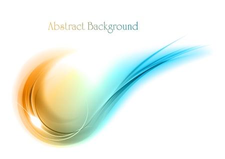 Blau und Orange abstrakte Form Vektorgrafik