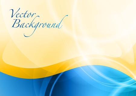 cool backgrounds: ola azul abstracta en el fondo de oro