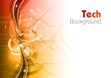 information science: tech background as red and white gradient