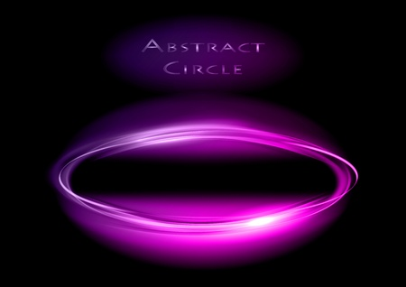 purple circle on the black background Stock Vector - 13524704