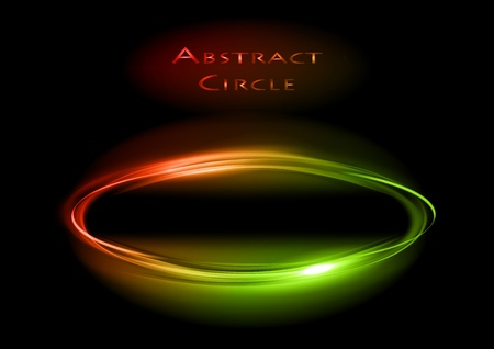 red and green circle on the dark Stock Vector - 13524702