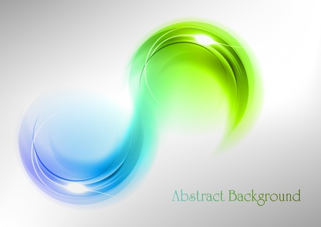 abstract curves in the green and blue colors Illustration