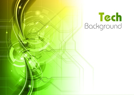 wite: tech background with the green and wite gradient