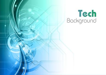 青と緑の技術の背景  イラスト・ベクター素材