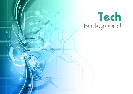 blue and green tech background Illustration