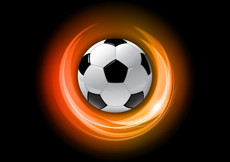 football on the red abstract background Vector