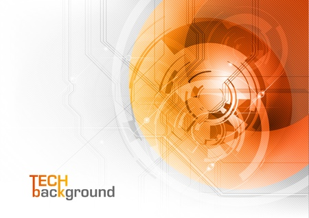 Abstract tech background with orange corner Illustration