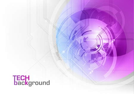 tech background in the purple color Stock Vector - 13524709