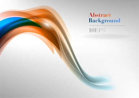 background abstraction: blue and orange abstract waves