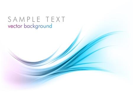 ligne: bleus �l�ments abstraits sur le blanc Illustration