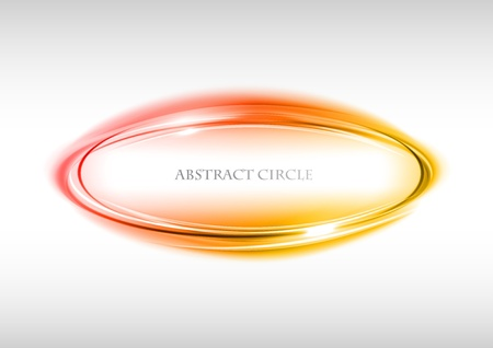 red circle on the light background Vector