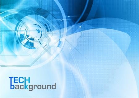azul resumen tecnología de vectores de fondo Ilustración de vector